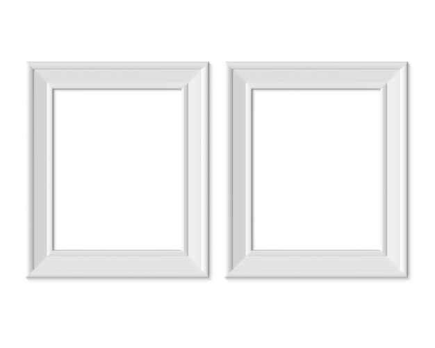 Set 2 4x5 vertical portrait picture frame. 3d render.