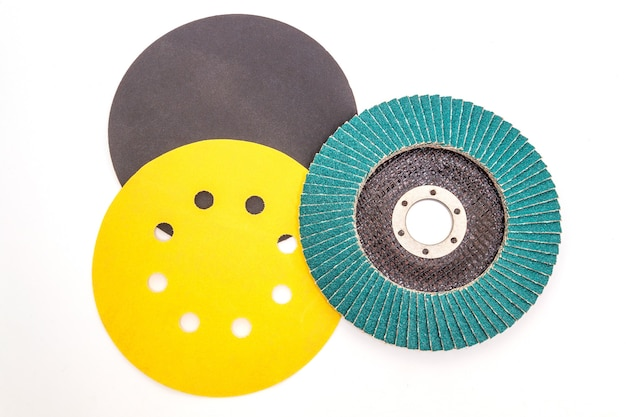 Set of abrasive tools different colors