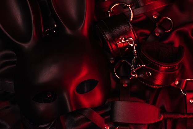Set of accessories for bdsm