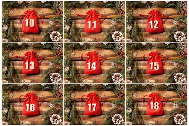 Set of advent calendar collection view