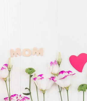 Set of attributes for mother`s day celebration