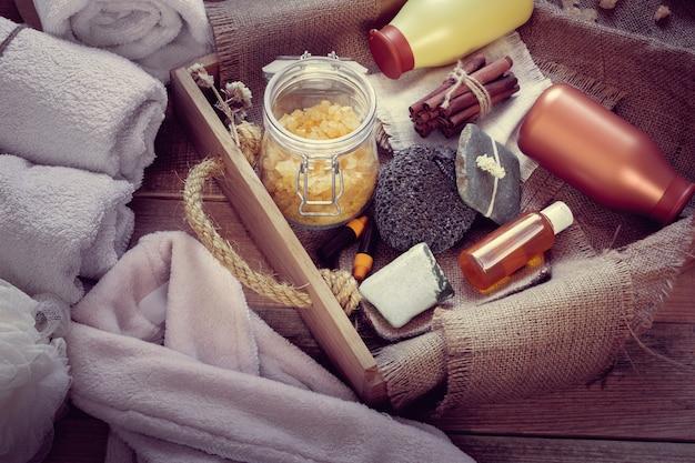 Set of bathhouse accessories