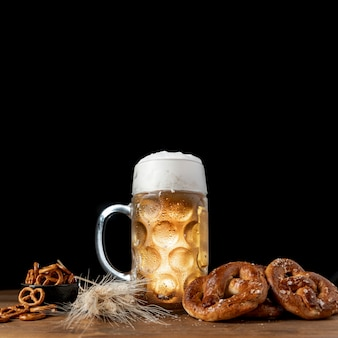 Set of bavarian snacks on a table