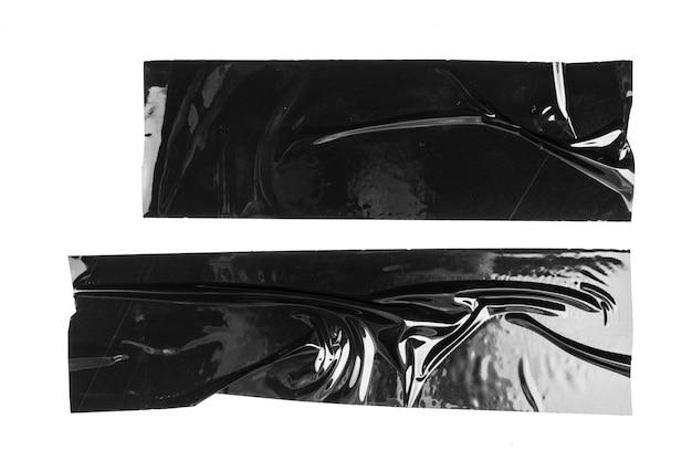 Set of black tapes on white