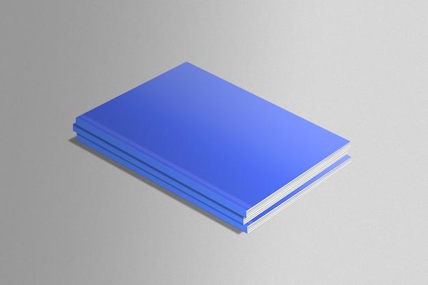 Set of blue magazines