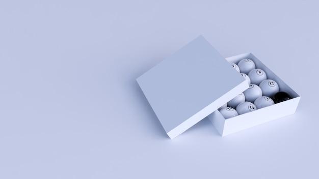 Set box billiard balls white