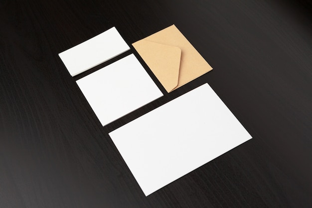 Set of branding stationery elements