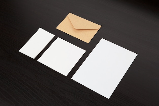 Set of branding stationery
