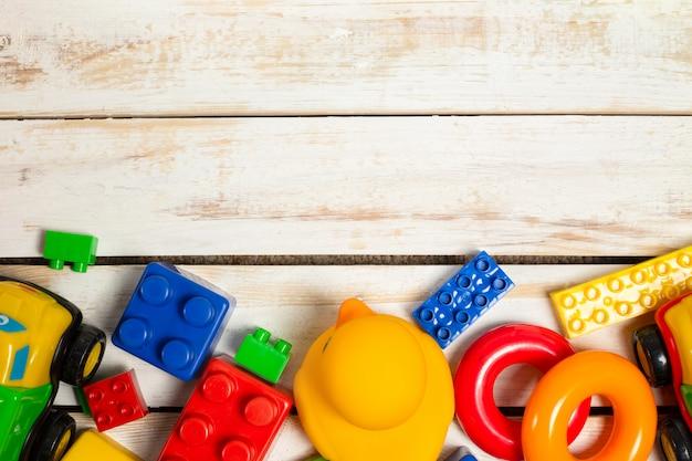 Set of children toys background