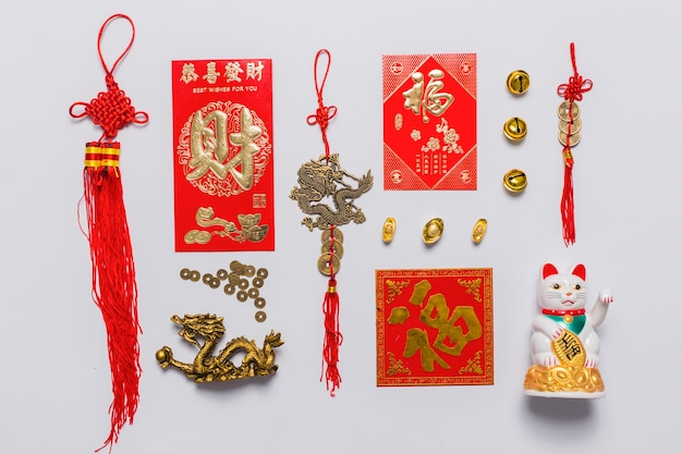 Set of chinese decorations