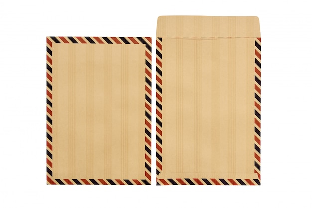 Set of closed and opened brown envelopes