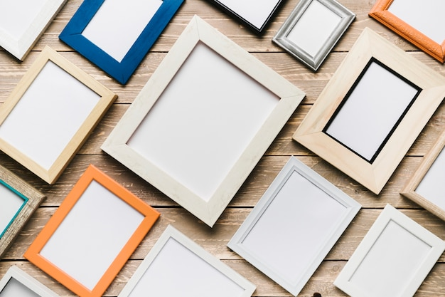 Set of colorful frames in diagonal