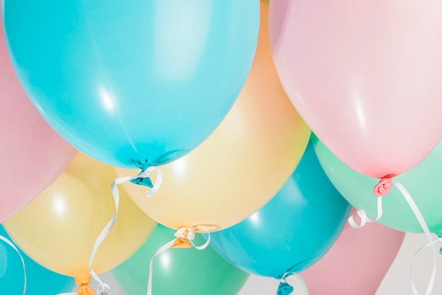 Set of colorful party balloons