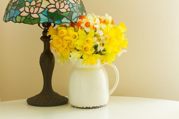 Set of colourful flowers vintage decoration