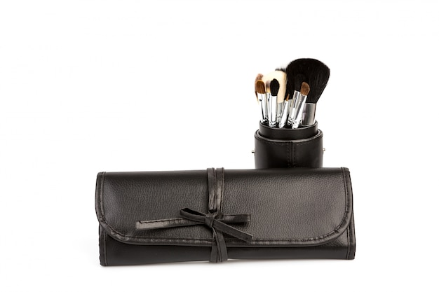 Set of cosmetic paint brush for makeup