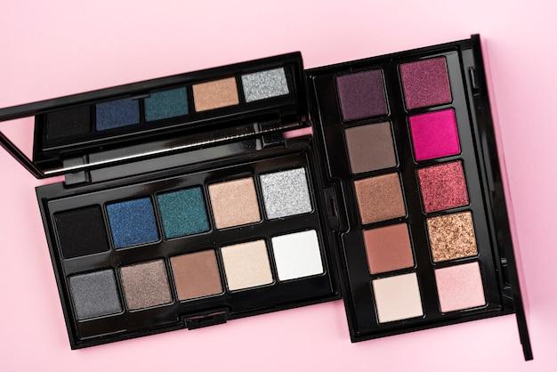 Set of cute eye shadow palettes