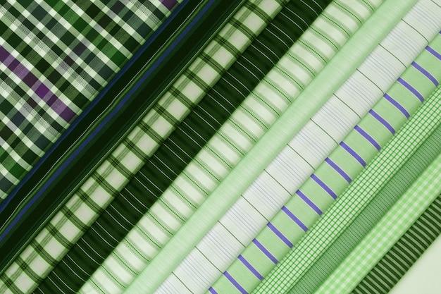 Установите ткань разной текстуры хлопкового цвета. фон абстрактный