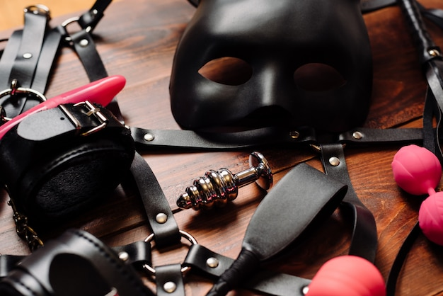 Set of erotic toys for bdsm