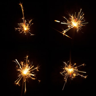 Set of four great sparklers