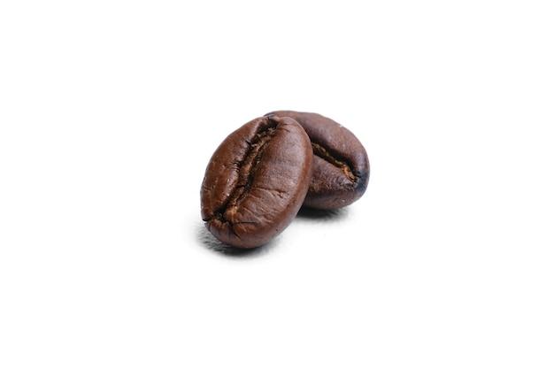 Set of fresh roasted coffee beans isolated on white background