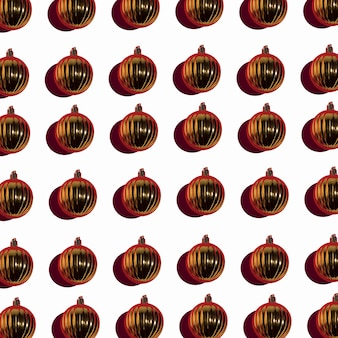 Set of gold christmas baubles