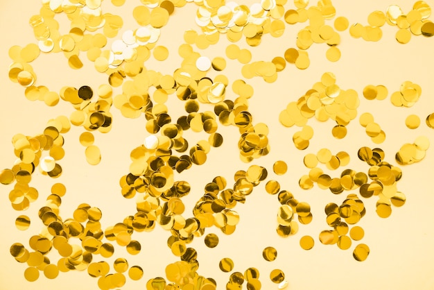 Set of gold glitters