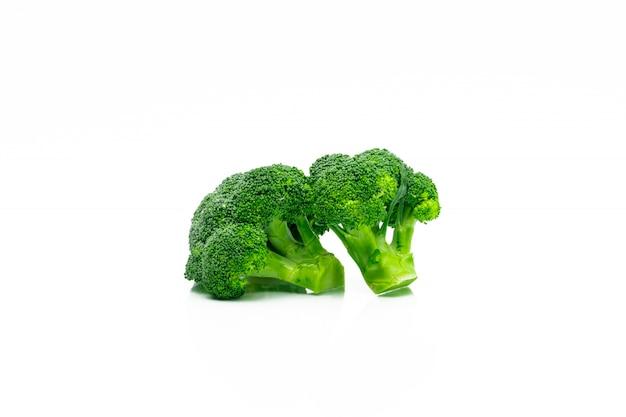 Set of green broccoli (brassica oleracea)