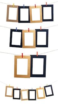 Set of hanging photo frame