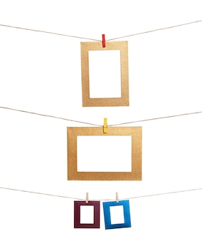 Set of hanging photo frame