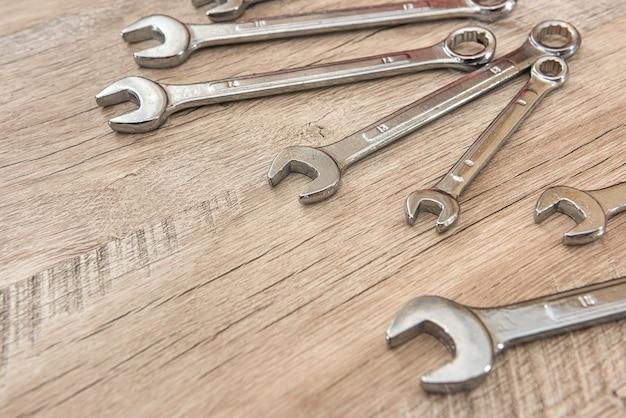 Set of horn keys for repair, all size. instrument