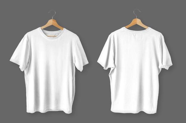 Set of isolated white t-shirts