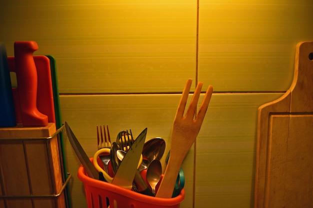 Set of kitchen supplies