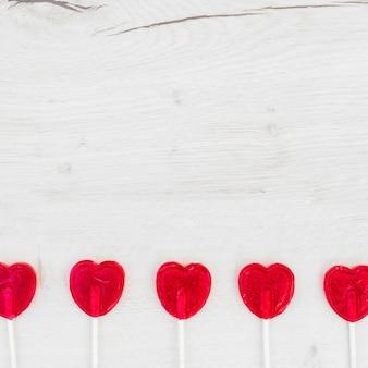Set of lollipops on wands