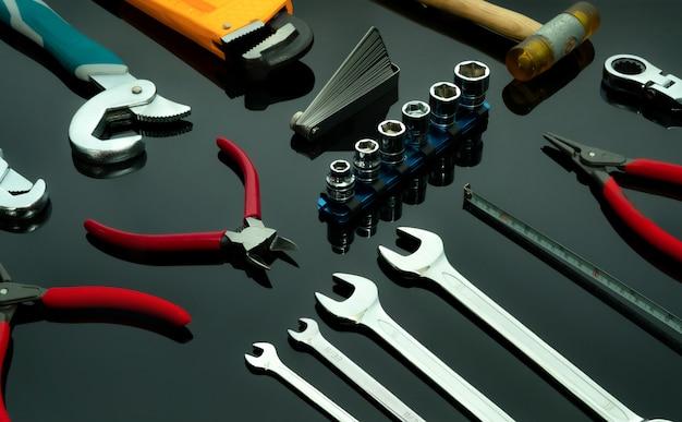 Set of mechanic tools