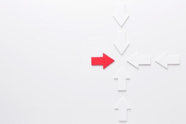コピースペースを持つ矢印のセット