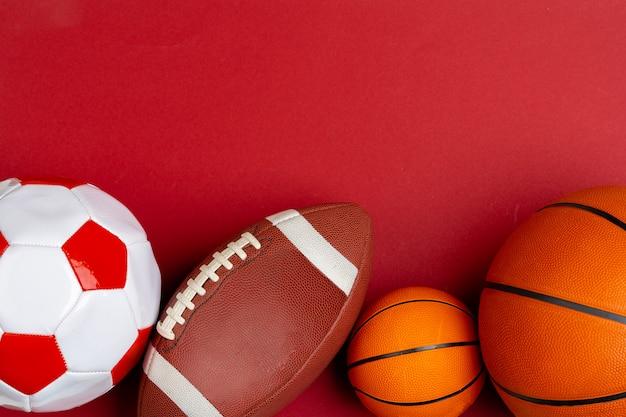 Набор мячей для футбола, баскетбола и регби