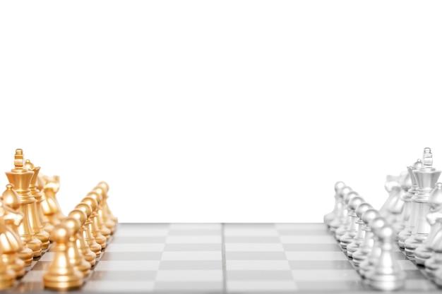 チェスの駒のセット、白いbackground.clippingパスで分離されたチェス盤ゲーム。