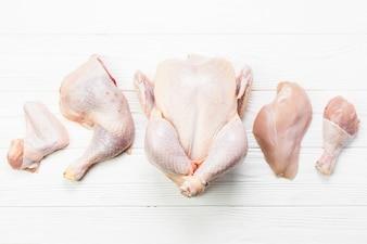Set of chicken parts