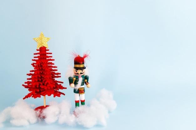 호두 까 기 인형으로 크리스마스 장식 세트