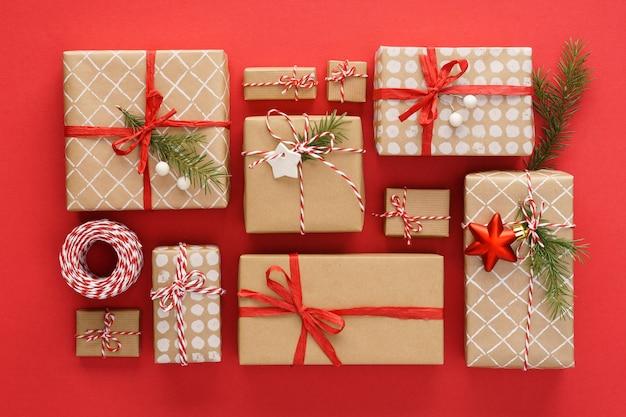 크리스마스 선물 상자 및 장식 세트