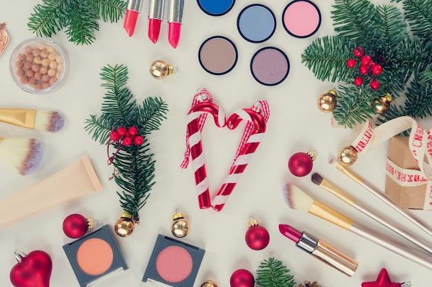 크리스마스 메이크업 화장품 세트, 복고풍 톤