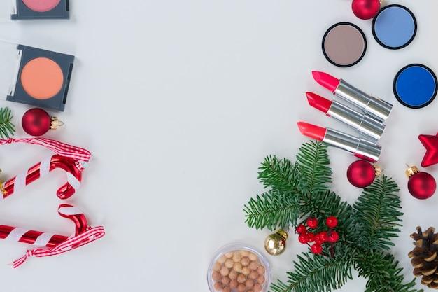 크리스마스 메이크업 화장품 세트, 평면도