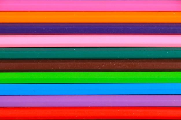 背景の色鉛筆のセット