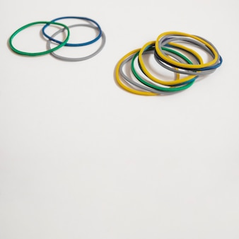 Set of colorful rubber bands