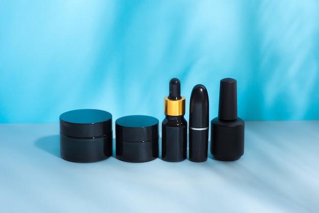 Набор косметических пакетов черного цвета