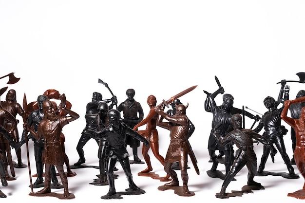 고립 된 군인의 다른 장난감 인물 세트