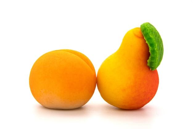 과일 마 지 판 사탕 흰색 절연 세트