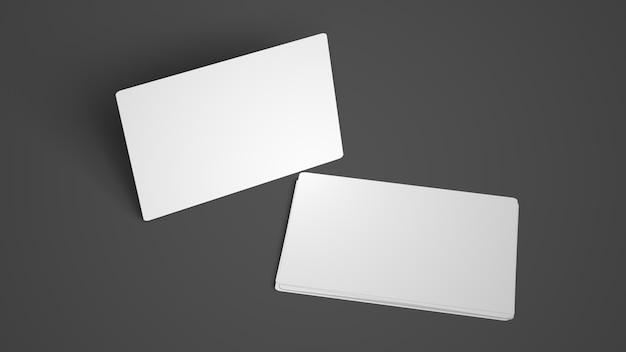 Набор изолированных визитных карточек композиции