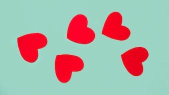Set of ornament vinous hearts