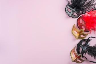 Set of ornamented masks